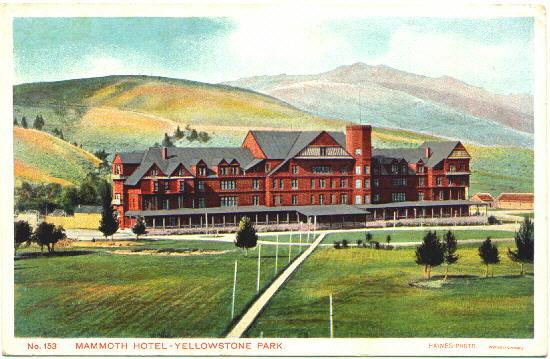 mammoth hotel (national hotel) - mammoth hot springs - yellowstone