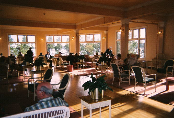 lake yellowstone hotel dining room.  above Perhaps one of Yellowstone Park s lesser known pleasures is the view and casual atmosphere this magnificent sun room just off Lake Hotel Photo Pages page 2